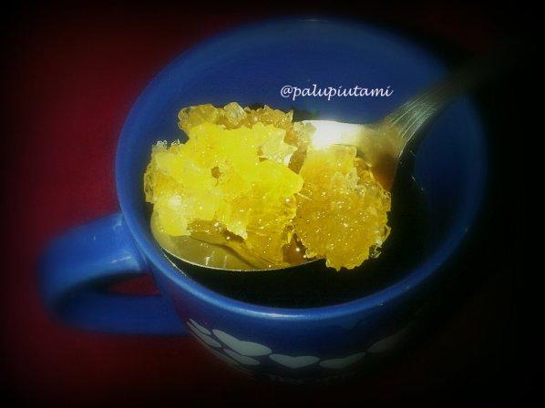 Traditional brown rock sugar