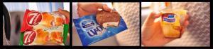 beberapa jajanan yang tertangkap kamera. dari ki-ka: roti, ice cream, puding
