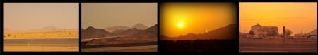 perjalanan makkah-madinah di saat senja